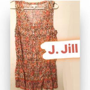 J. Jill Sleeveless Top - Orange Floral